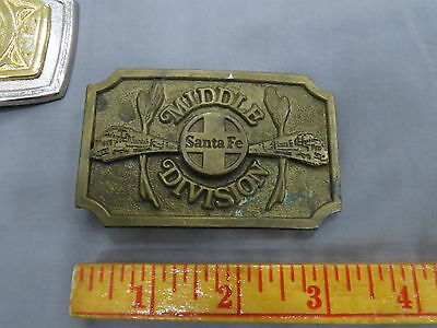 1979 Santa Fe Middle Divison Brass Belt Buckle Limited Edition Railroad Train