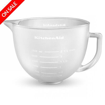 NEW KitchenAid Accessories Artisan Frosted Glass Bowl 4.7L