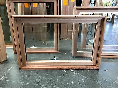 Timber Awning Window 600h x 915w - DOUBLE GLAZED  KD HARDWOOD - IN STOCK