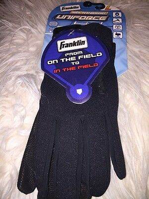 Franklin Uniforce Cold Weather Gloves, Black  - Large