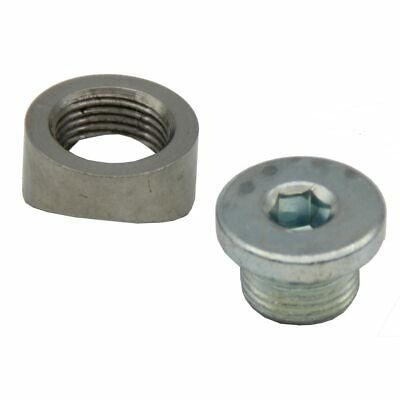 M18X1.5 O2 Oxygen Sensor Bung Stepped Notched Style 1 Mounting Bung And 1 Plug