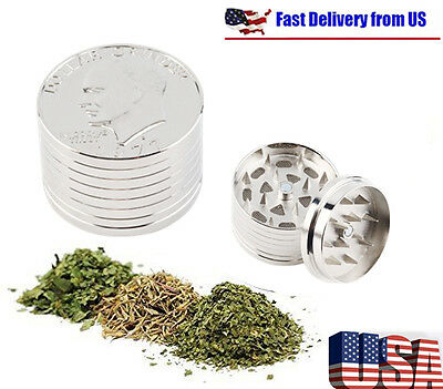 Tobacco Herb Spice Grinder 3 Piece Herbal Alloy Smoke Metal Chromium Crusher NEW