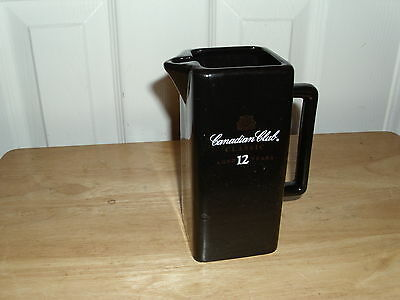Vintage Canadian Club Advertising Pitcher