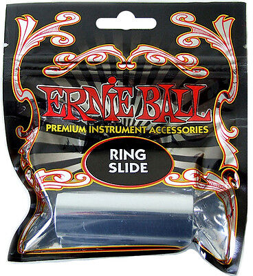 Ernie Ball® Chrome Plated Brass Ring Guitar Slide *new* 4235