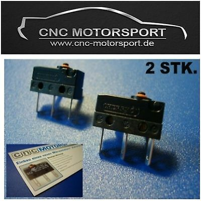 2 x Micro switch central door locking Audi A3 A4 A5 Golf 4 Microbuttons