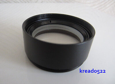 """0.7X Auxiliary Lens for Stereo Microscope Barlow Objective Lens 1-7/8"""" (48mm)"""