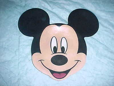 Child's Melamine Plate shaped as Mickey Mouse marked Disneystore