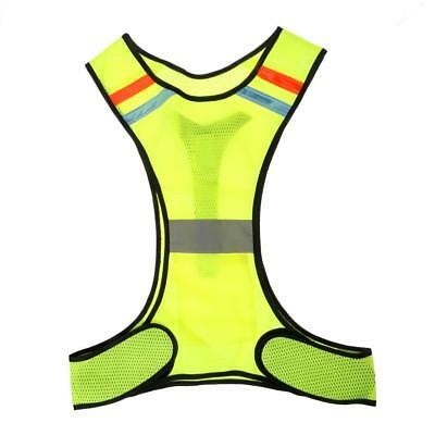 Breathable LED Reflective Safety Vest for Running Jogging Cycling Walking