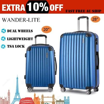 Set of 2 Luggage Suitcase Trolley TSA Travel Carry On Bag Hard Case Lightweight