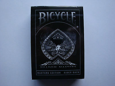 Shadow Masters Black Bicycle Deck Masters Playing Cards Ellusionist Magic Tricks