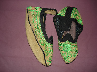#816  Beautiful Vintage Hand Made House Slippers Small/Medium 9''(22cm)