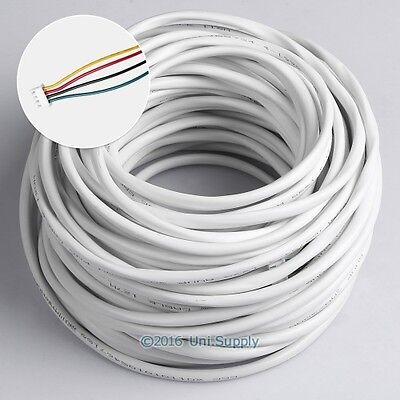 4 Core 30m 0.5mm² White Flexible Copper Cable For Video Entry Security System