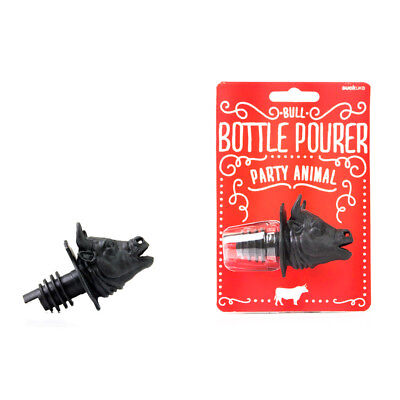 NEW Suck UK Party Animal Bull Bottle Pourer