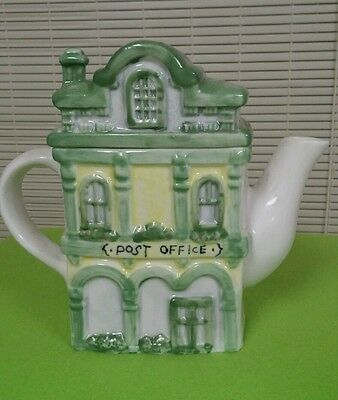 Vintage Post Office Teapot -  6.5x7 Hand Painted