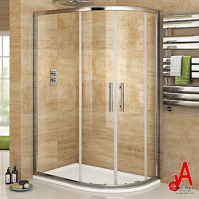 800/900X1000X1900mm Curved Shower Screen Enclosure Left/Right Entry Quadrant