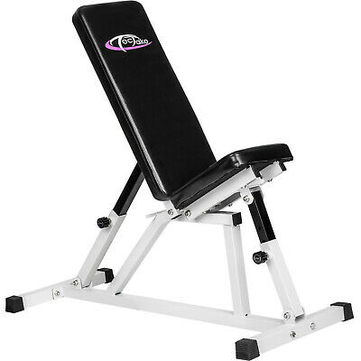 Banc d'haltérophilie incliné banc musculation pliable multifonctionnel ajustable