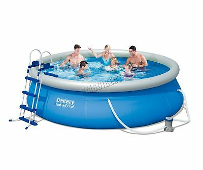 BestWay Fast Set Swimming Pool Round Inflatable 12ft x 36inch With Filter Pump