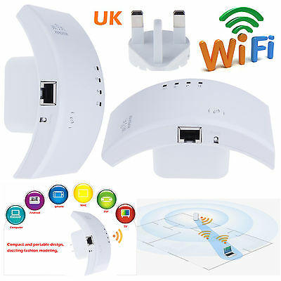 Latest 300Mbps Wireless N 802.11 AP WiFi Repeater Range Booster Extender Router