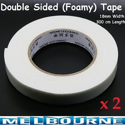 Double Sided Strong Self Adhesive Stick Foam Tape Roll Mounting Fixing Car 18mm