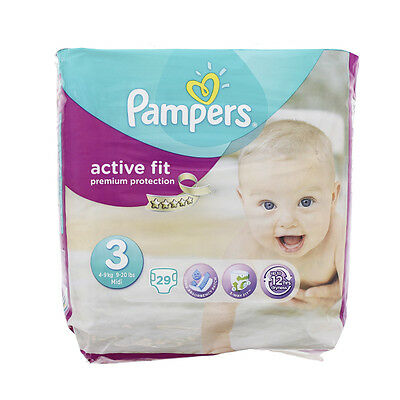 Pampers couches active fit taille 3 X 29