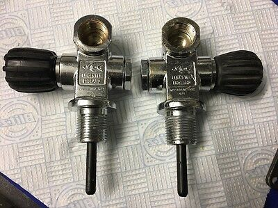 MDE Valves for side mount or stages - 1 Left 1 Right