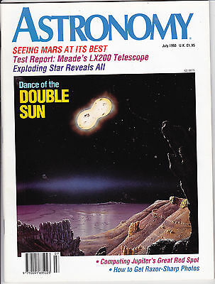 Astronomy Magazine July 1993, Mars and Jupiter, Double Sun, Meade LX200,