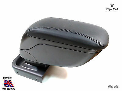 Black Leather Padded Armrest Center Specific Fit For Vauxhall Opel Astra J 2009+