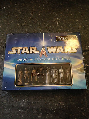 Star Wars Collector's Edition Vintage Chess Set Episode 2 Xmas Gift Pewter Effec
