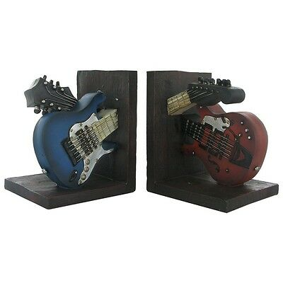 Vintage Guitar Shelf Tidy Heavy Resin Bookends by Fiesta Studios BRAND NEW