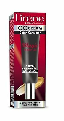 Lirene Color Corrector  Cream Magic Make-Up Foundation 2-in-1  30 ml