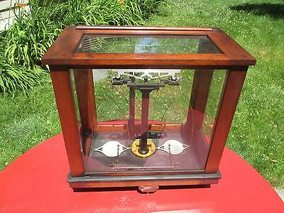 Antique Christian Becker Vintage Chainomatic Jeweler Balance Analytical Scale.