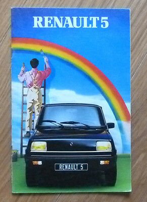 RENAULT 5 R5 GAMME catalogue brochure 1982 RARE