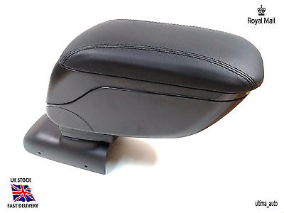 Black Leather Padded Armrest Center Specific Fit For Peugeot 208 2012+