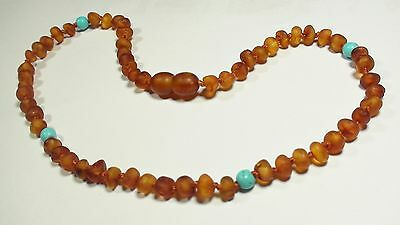 Natural raw genuine Baltic amber baby necklace,  small beads  NE9