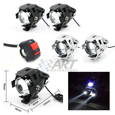 2 X Faro Moto Foco Largo Alcance Carretera Antiniebla 125W Headlight Motorcycle