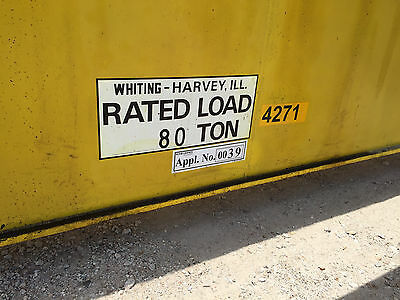 (2) Whiting 80 Ton Overhead Cranes With 20 Ton Auxiliaries