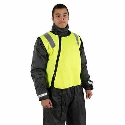 Motohart Hi-Vis Reflective Motorcycle Scooter Jacket Vest Safety Yellow New