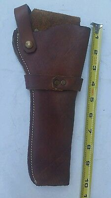 """Brown leather Holster, 10"""" long, good condition."""