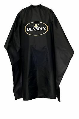 Pro Denman Dsw1 Dsw2 Washable Nylon Polyester Waterproof Hairdressing Cape Black