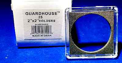 10 - 2x2 Guardhouse Tetra Plastic Snaplock Coin Holders for Silver Dollar