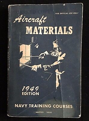 Vintage 1944 Navy Training Courses - Aircraft Matrials NAVPERS 10330