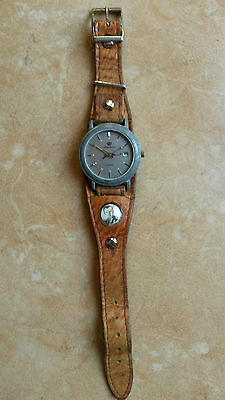 RARE WATCH US Army : Watch Strap with the military photo and W.A. US Army !!!