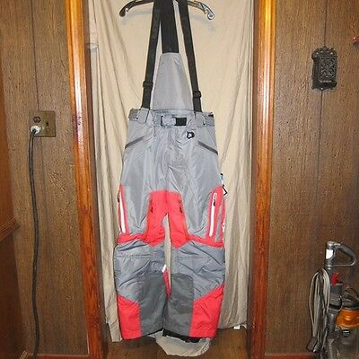 NWT FXR Recon Red/ Charcoal Snowmoblie Pants Bibs Mens Size Large