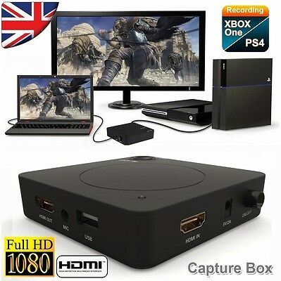 HDMI Capture Video Recorder Box HDCP Decode For PS3 PS4 Xbox one 360 Wii AV DVD
