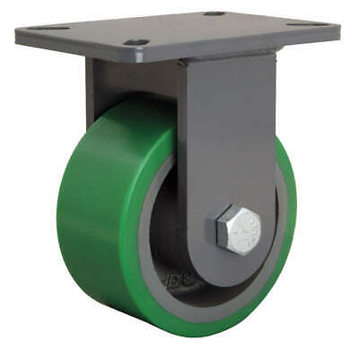 GRAINGER APPROVED Plte Caster,Rgd,Poly,6 in.,2200 lb., R-CH-63DB