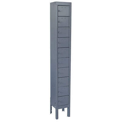 GRAINGER APPROVED Cell Phone Locker,1 Wide,10 High,Gray, 10Y618, Gray