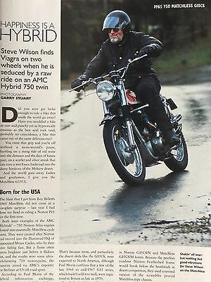 Matchless 750 G15Cs # 1965 Model # 4 Page Original Motorcycle Article