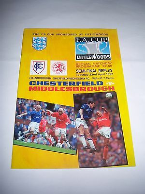 1997 FA CUP SEMI-FINAL - CHESTERFIELD v MIDDLESBROUGH - FOOTBALL PROGRAMME