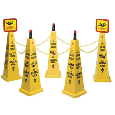TOUGH GUY Cone Kit, Caution Safety First, Eng/Sp, 6VKT0