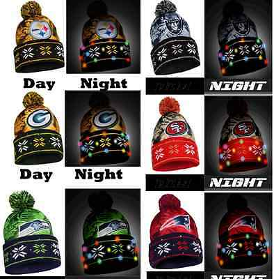 9d3a8d3c0 NFL LED Light Up Big Logo Winter Christmas Beanie Forever Collectibles